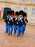 Danish guards in Copenhagen Stock Images