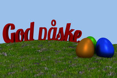 Danish Happy Easter background Royalty Free Stock Image