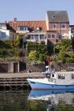 Danish harbour royalty free stock photo