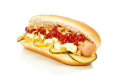 Danish Hot Dog Royalty Free Stock Photography