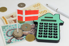 Danish House Finance Royalty Free Stock Photography