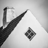 Danish house - gable and chimney Stock Images
