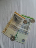 Danish Krone notes and coins, Denmark Royalty Free Stock Photos