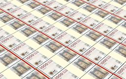 Danish krone bills stacks background. Stock Images