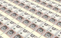 Danish krone bills stacks background. Stock Images