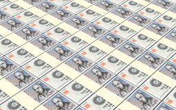 Danish krone bills stacks background. Stock Photo