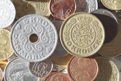 Danish Krone choins. Danish money Stock Image