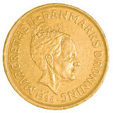 20 danish krone coin. Isolated on white background Royalty Free Stock Photography
