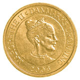 10 danish krone coin. Isolated on white background Stock Images