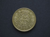 20 Danish Krone DKK coin Royalty Free Stock Images