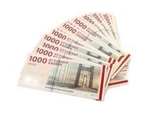 Danish krone ( 10x1000 DKK ). On white background Royalty Free Stock Photo