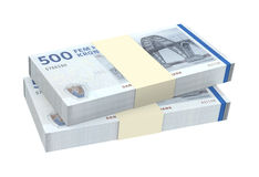 Danish krone isolated on white background. Computer generated 3D photo rendering Royalty Free Stock Photos