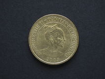 20 Danish Krone (DKK) coin Royalty Free Stock Images