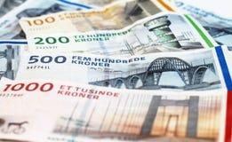 Danish Kroner bills stock image