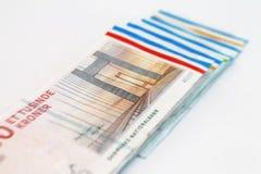 Danish Kroner bills Royalty Free Stock Photos