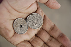 DANISH KRONER COINS Royalty Free Stock Images