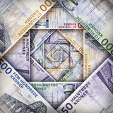 Danish Kroner Rand Background stock images