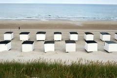 Danish landscape01. Summer in denmark:beach houses Stock Photo