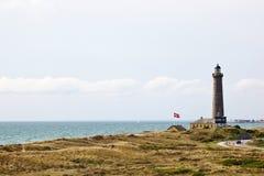 Danish Lighthouse. Lighthouse on the Danish coast Royalty Free Stock Photo