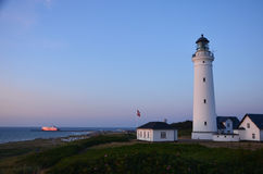 Danish lighthouse. In Hirtshals port Stock Photography