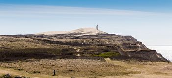 Light house dunes stock images