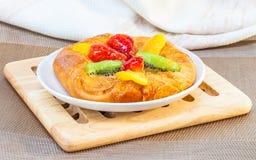 Danish mixed fruit pie Stock Images