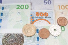 Danish money Stock Photography