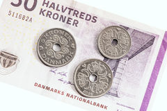 Danish money. Royalty Free Stock Photography