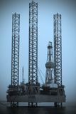 Danish oil rig Stock Photos