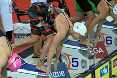 Danish Olympian and Record Holder sprint freestyle swimmer Jeanette OTTESEN. Hong Kong, China - Oct 29, 2016. Danish Olympian and Record Holder sprint freestyle Stock Image