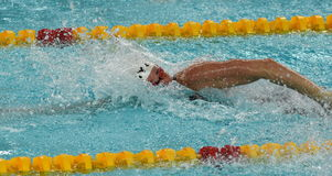 Danish Olympian and Record Holder sprint freestyle swimmer Jeanette OTTESEN. Hong Kong, China - Oct 29, 2016. Danish Olympian and Record Holder sprint freestyle Royalty Free Stock Photos