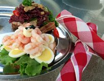 Danish Open-Face Sandwiches Stock Photo