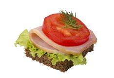 Danish open sandwich Stock Images