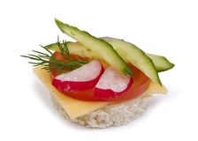 Danish open sandwich Royalty Free Stock Images