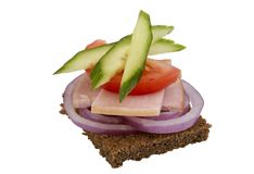 Danish open sandwich Stock Photo