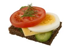 Danish open sandwich Royalty Free Stock Image
