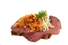 Danish open sandwiches Royalty Free Stock Photography