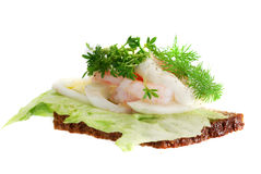 Danish open sandwiches Stock Photo