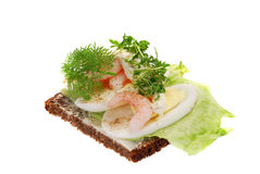 Danish open sandwiches Stock Images