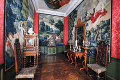Danish palace interior Stock Photos