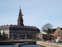 Danish parliament building Royalty Free Stock Photo