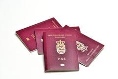 Danish Passports Stock Photos
