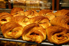 Danish Pastries... A rack of fresh danish pastries Stock Image