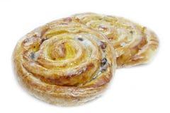 Danish pastries with raisins Stock Images