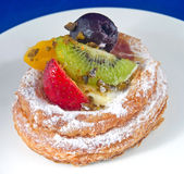 Danish Pastry. Delicious Danish pastry made with various fruits Royalty Free Stock Photos