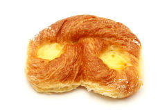 Danish pastry. With custard on a white background Royalty Free Stock Photography