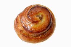 Danish pastry. Isolated a Danish pastry bakery royalty free stock photos