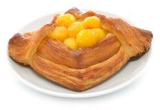 Danish Pastry aith Mango Royalty Free Stock Photography