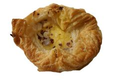 Danish pastry with almond filling Stock Photography