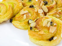 Danish pastry with almond Stock Photography